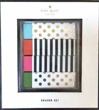 NWT Kate Spade New York Polka Dot & Striped Eraser Set