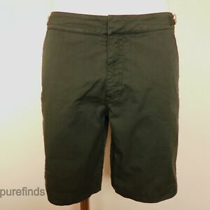 KINGSMAN BY ORLEBAR BROWN DANE II COTTON TWILL SIZE 32 SHORTS FOREST GREEN BNWT