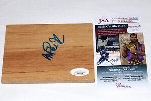 MAGIC JOHNSON Hand Signed Autograph FLOOR BOARD Los Angeles Lakers with JSA COA