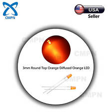 100Pcs 3mm Diffused Round Top Orange 2pin Bright Bulb LED Light Emitting Diodes