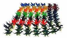 "100 Pcs Plastic Fire Breathing Mini Dragons 2.5"" - 3"""