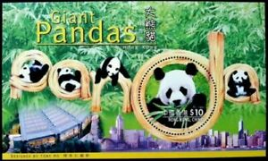 [SJ] Hong Kong Panda Conservation 1999 Cute Animal Zoo (ms) MNH *odd *unusual