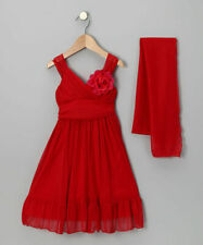 NWT Gorgeous Little Girls Cinderella Party Pageant Wedding Red Summer Dress Sz 6