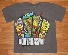 Nickelodeon Ninja Turtles Boys Size L Large (10/12) Short Sleeve Shirt Top EUC