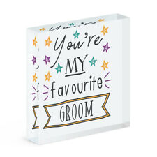 You're My Favourite Groom Stars Acrylic Photo Block Frame Funny Wedding