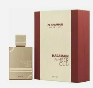 Amber Oud Rouge By Al Haramain 2.0oz EDP Spray For Men New In Box Fast Shipping