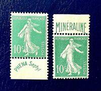 Minéraline  N° 188A & 188  *** Neufs Sans Charnière ***  TBC  TTBE  Cote 1100 €