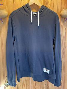 Finisterre Organic Cotton Hoody, Men's Medium, Navy Blue