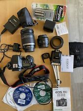canon eos 70d Camera Bundle (lenses+flash+bag+SD Card 128gb+ )