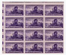 US Stamps 1947 #950 Utah's Centennial 3c Panel of 12 Upper Left MNH