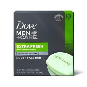 Dove Men+Care 3 in 1 Bar Extra Fresh 3.75 oz 10 Bars.