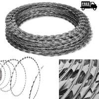 NATO Razor Wire Concertina Barbed Helical Wire Roll Galvanized Steel 60/100/150m