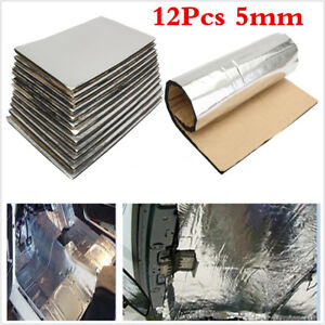 Car Heat Sound Deadener Reducer Insulation Underlay Mat 12PCS 5mm Universal