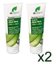 2 x Genuine Dr Organic Aloe Vera Skin Lotion Moisturiser & Restorer 200ml New