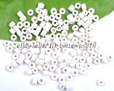 Wholesale 1000Pcs Bead Wood Tube Spacer Beads 4X3MM Colors U PICK