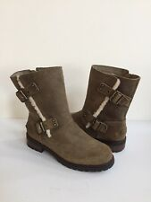UGG NIELS II DOVE WATER RESISTANT LEATHER BOOTS US 8 / EU 39 / UK 6.5 -NEW