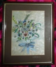 Small (up to 12in.) Vintage Floral Art Paintings