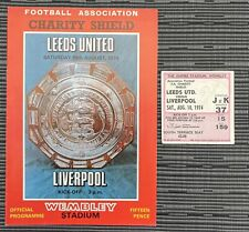 More details for leeds united v liverpool fa charity shield programme & ticket 1974