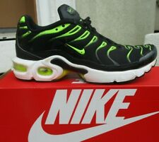 Nike Air Max Plus GS Black Volt Neon Green Size 5Y Youth 655020-086