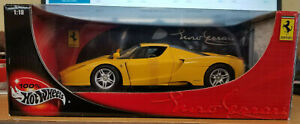 100% Hot Wheels 1:18 Enzo Ferrari Yellow
