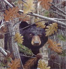 Queen Size The Huntsman Collection Luxury Plush Raschel Blanket--Camo Bear