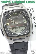 AW-81-1A1 10-Year Battery Genuine Casio Watch 50M Black Plastic 30 Telememo