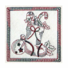 1090:  Machine Embroidery Designs - Christmas Time I - Redwork