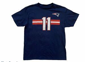 NFL New England Patriots Boys Tshirt Shirt Julian Edelman #11 Sz Medium M 10-12