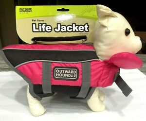 """Outward Hound Dog Life Jacket PINK XXS 11-14"""" Girth Up to 11 LBS Or Best Offer"""