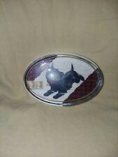 "Vintage Oval Scottie Terrier Paperweight 4"""