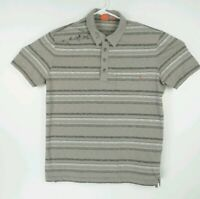Hugo Boss Mens Size Medium Polo Shirt Striped Collared Short Sleeve