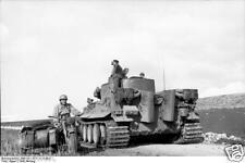 German Army Panzer Tiger Tank & Motorcycle Tunisia World War 2 Reprint Photo 6x4