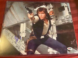 Star Wars HARRISON FORD Han Solo signed 11x14 photo PSA/DNA letter COA