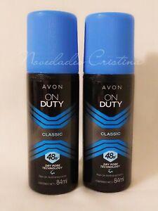 Lot of 2 AVON On Duty 48 Hour Roll On Deodorant Antiperspirant 84ml -UNISEX