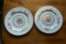 Set of 2 Crown Staffordshire  A5782 Pink Roses 8 1/4 Salad Luncheon Plate