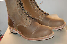 NIB Timberland Boot Company Coulter 9 Eye Boot Brown Handmade IN USA sz 10 med