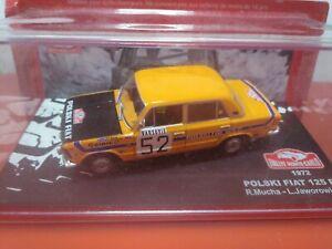 COCHE 1/43, ALTAYA, MODELO FIAT POLSKI 125 P RALLYE MONTE CARLO 1972.