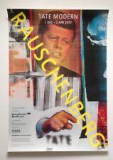 TATE MODERN Exhibition Poster: RAUSCHENBERG  1 DEC – 2 APR 2017