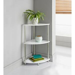 Fabulous Norsk White high gloss 3 Tier Corner Unit Perfact for your living room.