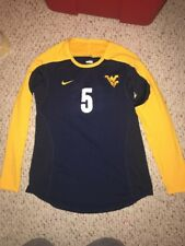 Nike West Virginia Mountaineers #5 Womens Volleyball L/S Navy Game Jersey *L*