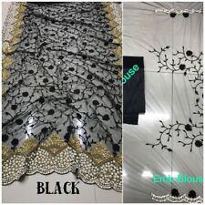 Multi Indian Saree Sari Bollywood Wedding Pakistani Designer NET Embroidery Top