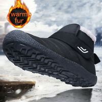 Men's Winter Snow Boots Warm Fur Lined Anti-Slip Ankle Outdoor Walking Shoes