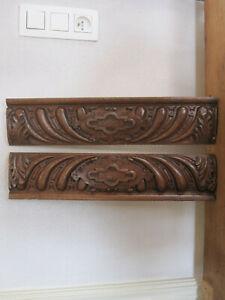 hand carved antiques oak pediments  1880'