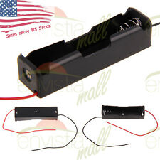 "1S Battery Holder Case Clip Box  for 1X 18650 3.7V Li-Ion with 6"" Wire Leads USA"