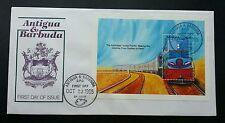 Antigua and Barbuda Train 1995  Locomotive Railway Transport Vehicle (FDC)