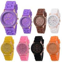 Colours Unisex Silicone Rubber Jelly Gel Quartz Analog Sports Women Wrist Watch