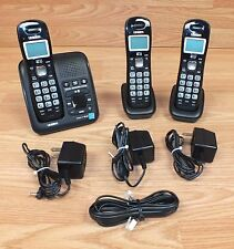 Uniden (D1483-3Bk) Dect 6.0 Black Trio Single-Line Cordless Phone System *Read*