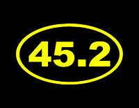 "45.2 2ND TERM VINYL DECAL Yellow 3.5"" X 6"" PRESIDENT DONALD TRUMP 45 MAGA USA"