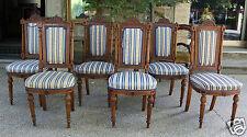 Lotto sei sedie legno di noce Napoleone III ottimo stato - Italia - fine '800