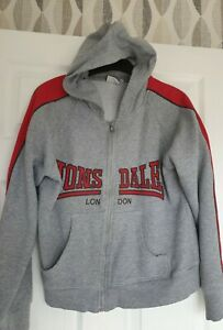 Great Condition Lonsdale Grey Hooded Sweatshirt Jacket Size 12